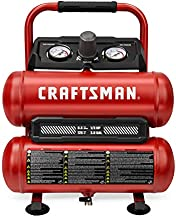 CRAFTSMAN Air Compressor, 2 Gallon Portable Air Compressor, Twin Tank, 1/3 HP Oil-Free Max 125 PSI Pressure, Model: CMXECXA0220242, Red