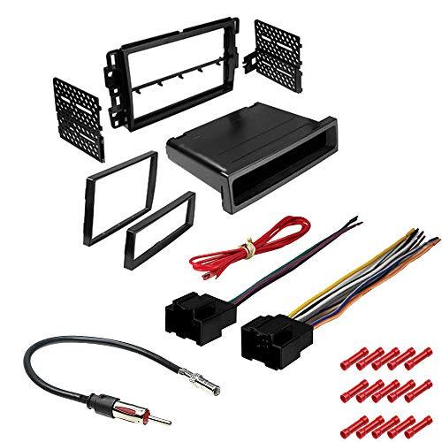 CACHÉ KIT797 Bundle with Car Stereo Installation Kit for 2007 – 2013 Chevy Silverado – in Dash Mounting Kit, Harness and Antenna for Double or Single Din Radio Receivers (4 Item)