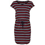 only onlmay s/s dress noos vestito, multicolore (night sky stripes:multi flame scarlet/cloud dancer), 46 (taglia produttore: large) donna