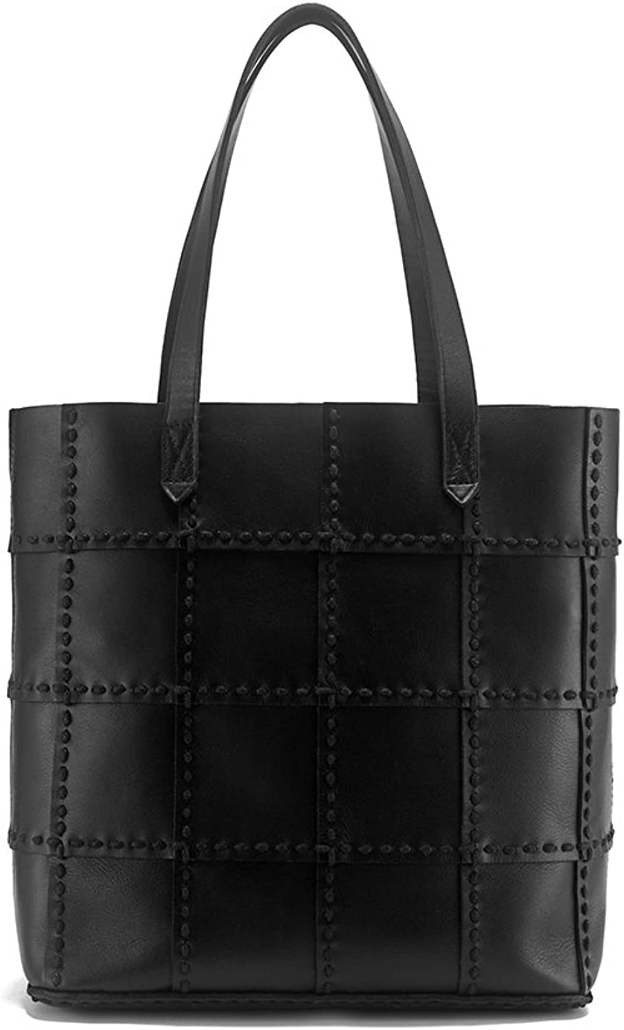 BRANCHEAU YEUNG Big Shopping Bag Genuine Leather Tote Bag Casual Handbag With Strap
