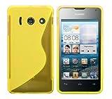 Luxburg® S-Line Design Schutzhülle für Huawei Ascend Y300 in Farbe Goldgelb/Gelb, Hülle Case aus TPU Silikon