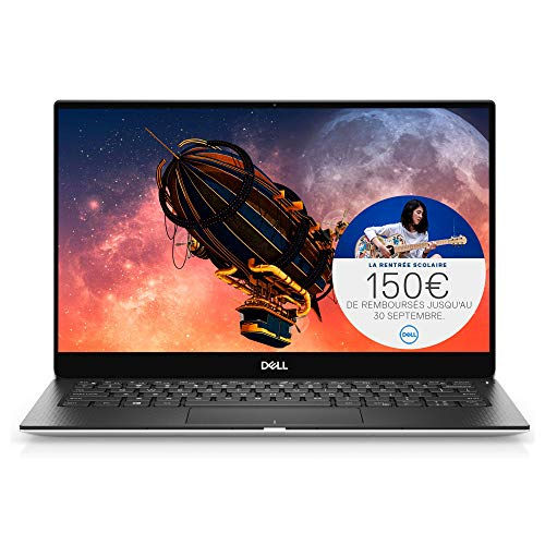 Dell, XPS 13 7390, Silver, 10th Generation Intel Core i5-1021, W10H S, 8GB Lpddr3, Intel UHD Graphics 600 Series, 256GB M.2 PCIe NVMe SSD, 13.3Zoll FHD (1920 x 1080) - AZERTY Tastatur