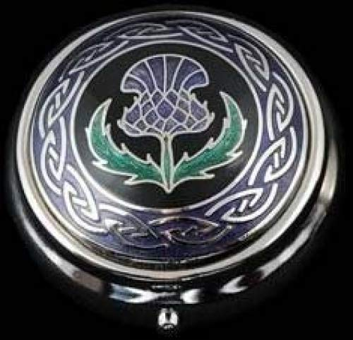 Sea Gems Pill Box in a Scottish Thistle Design