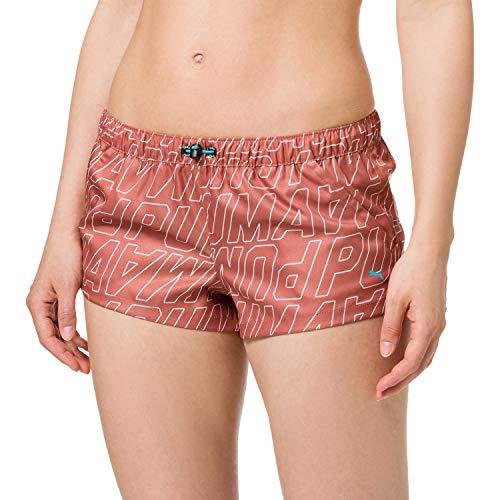 PUMA Swim Women's Printed Boardshorts Pantaloncini da tavola, Marrone, XL Donna