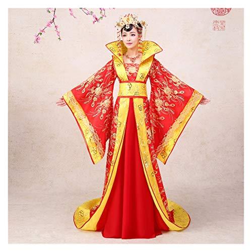 Hanfu - Disfraz de mujer chino, color rojo, talla nica, diseo de reina y concubina
