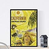 Nacnic Vintage Poster Vintage Poster Amerika. Kalifornien.
