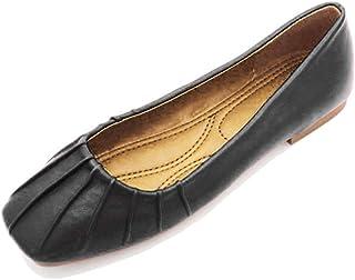 b25caf63f3c1e August Jim Women Flats Shoes Comfort Ballet Flats Vegan Leather Slip-On  Driving Moccasins