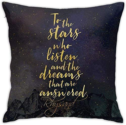 YPPDPP to The Stars Who Listen, and The Dreams That Are Answered Square/Platz kissenhülle Pillow Cases Kissenbezug Throw Pillow Cover Home Bed Room Interior Dekorativ kopfkissenbezug
