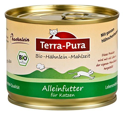 Terra Pura Bio-Katzennassfutter Hähnlein, 24er Pack (24 x 200 g)