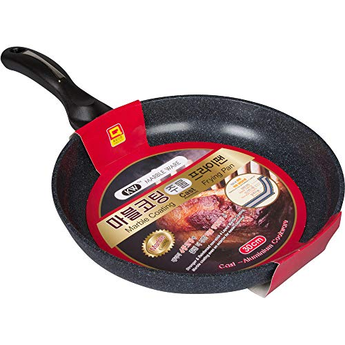 Ceramic Marble Coated Cast Aluminium Non Stick Fry Pan 30cm(12 inches) by KW