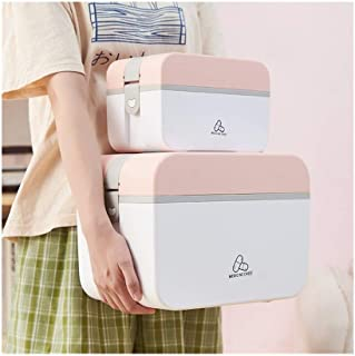 YRLHMYYH Medicine box Multiple home kits storage box with double medicine box (Color : Pink, Size : Big)
