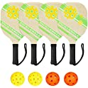 Set of 4 Dovoda Pickleball Paddles Set with Carry Bag
