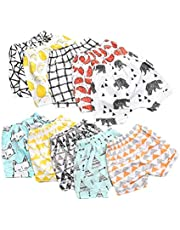MUKHAKSH (Combo of 3 Pack) Girls/Women/Ladies Hot/Latest Multi Colour Shorts for Nightwear/Lounge Wear/Casual Wear (Print May Vary) (Free Size 34 to 42 Waist) (Size 34/36/38/40/42)
