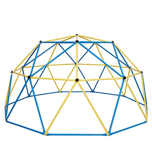 Albott 10' x 5' Geometric Dome Climber – Rust and UV Resistant Steel Frame Outdoor Kids Jungle Gym – 750 LBS Weight Capacity – Safe for 1-6 Kids Climbing Dome