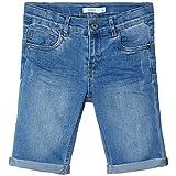NAME IT Jungen NKMSOFUS DNMTRAPPE 1301 Long NOOS Shorts, Light Blue Denim, 152