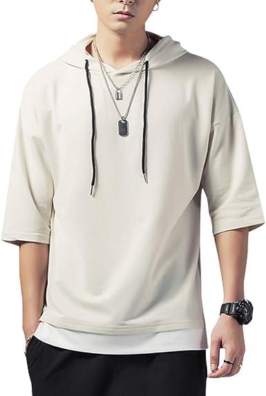 KENAIJING Camiseta Hombre, Hombre Sudadera con Capucha Hoodie Casual Camisa de Entrenamie