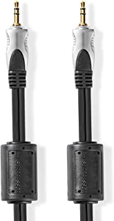Nedis Stereo-Audiokabel | 3,5 mm Male | 3,5 mm Male | Verguld | Rond | Antraciet | Clamshell 1.50 m 1.50 m