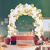 Litthing Ballongirlande Kit Latex Ballon Bogen Kit für Hochzeitsdekoration Geburtstagsfeier (Weiß)