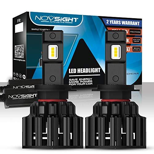 NOVSIGHT Kit de Conversion Ampoules H7 LED de Voiture,Phares de Auto 20000LM(10000LMx2) 100W(50Wx2)6000K Blanche pour remplacement Ampoules Halognes/Xnons