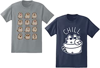 Pusheen Mens 2 Pack Shirts The Cat 2 Pack T-Shirts