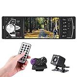 Bluetooth Autoradio, Parkomm 4,1 Zoll Auto Radio MP5 MP3 Player mit HD Bildschirm, Freisprecheinrichtung, Radiofunktion, Umkehrfunktion, Unterstützung für Bluetooth/USB/TF/AUX/FM (mit Kamera)