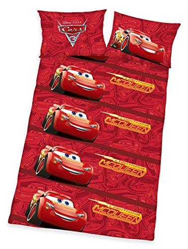 Herding Parure de lit Disney Cars 3 100 % coton avec housse de couette 40 x 60 cm et taie 100 x 135 cm