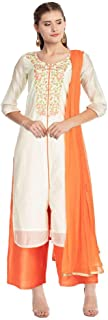 STOP by Shoppers Stop Womens Key Hole Neck Embroidered Palazzo Suit