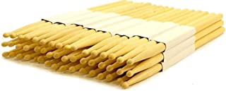 24 PAIRS - 5B WOOD TIP NATURAL MAPLE DRUMSTICKS PRO 48 DRUM STICKS NEW