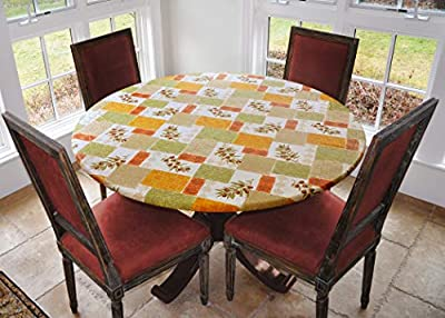 Covers For The Home Deluxe Elastic Edged Flannel Backed Vinyl Fitted Table Cover