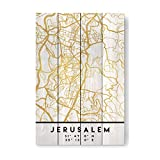 artboxONE Holzbild 60x40 cm Städte Jerusalem