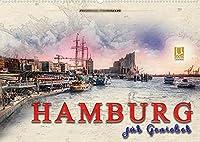 Hamburg fuer Geniesser (Wandkalender 2022 DIN A2 quer): Hamburg, Metropole an der Elbe. (Monatskalender, 14 Seiten )