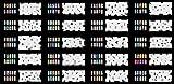 ABEST verkauf Wiederverwendbarer Airbrush DESIGNS der Nail-Art Schablone 320 - 20 Blätter Kit Vorlagensatz 8 -