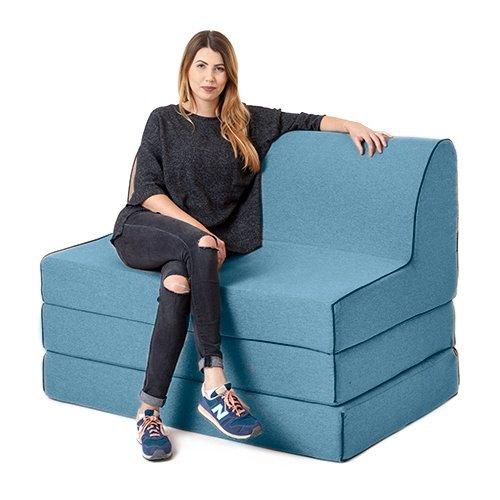 Marino lana efecto 'OLIVIA' espuma doble fold out sofá cama Z cama tumbona