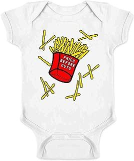 Fries Before Guys Funny Feminist Infant Baby Boy Girl Bodysuit