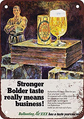 Lorenzo Ballantine Ale XXX Beer Vintage Metal Vintage Metal Vintage Metallblechschild Wand Eisen Malerei Plaque Poster Warnschild Cafe Bar Pub Bier Club Dekoration