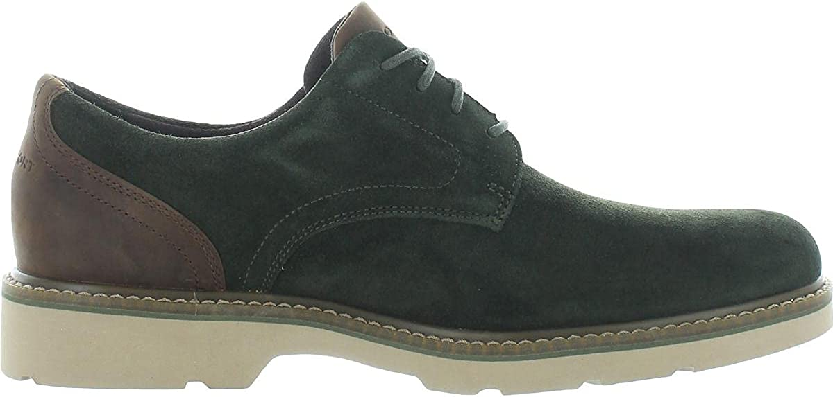 Rockport Mens Charlee Leather Lace Up Oxfords Green 10.5 Medium (D)