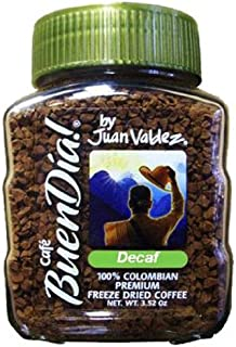 Buendia by Juan Valdez 100% Colombian Freeze Dried Decaf Coffee, 3.52 oz. Jars (Pack of 3)