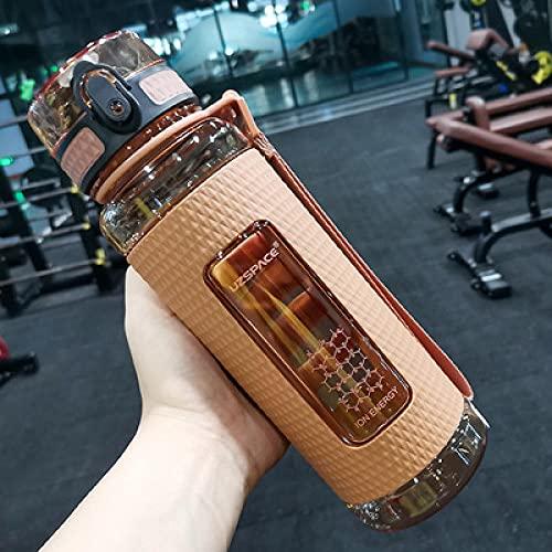 SDGSDG Borraccia Sportiva, Senza BPA,Sporty water cup portable large capacity fitness kettle-Orange_450mlAdatto per viaggi, ciclismo, fitness