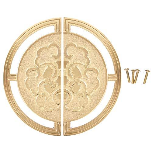 Tirador de cobre clásico chino Tirador para muebles Armario Tirador para puerta Gabinete para vino Tirador redondo Muebles Accesorios de hardware(140mm)