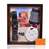 Pet Memorial Shadow Box with Clay Paw Print...