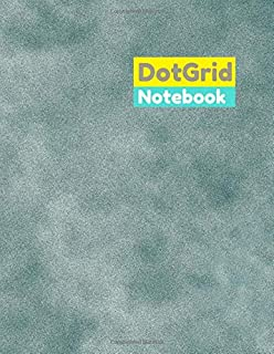 Dot grid journal notebook Grain, Sandy texture background cover, dot grid notebook 100 pages – Large (8.5 x 11 Inches)