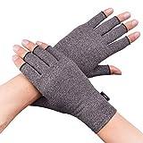 Banillue Compression Arthritis Gloves, Fingerless Hand Gloves for Rheumatoid & Osteoarthritis - Joint