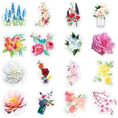 YMSD Pegatinas florales exóticas para equipaje, decoración de equipaje, impermeable, 50 unidades