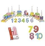 Goki Geburtstagszug Zahlen 1-10 10er Set Kerzen rosa - Die LuLuGoS