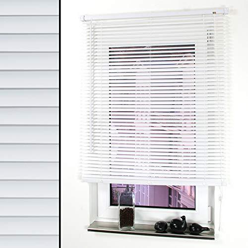 Liedeco Jalousie für Türen, 220 cm Länge, Kunststoff-Jalousie weiß B 80 cm