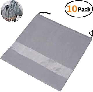 """TINTON LIFE Set of 10 Non-woven 19.7""""x19.7"""" Drawstring Dust Cover Bag with Visual Window for Handbags Purses Shoes"""