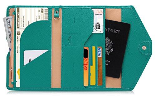Zoppen Mulit-Purpose RFID Blocking Travel Passport Wallet (Ver.4) Tri-fold...