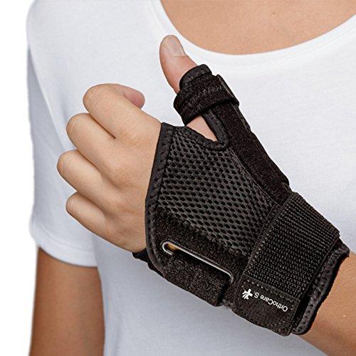 OrthoCare S - Tutore per pollice . Taglia unica. Anche per entrambi mani. La muscolatura snodo metacarpofalángica e il pollice nelle attività diarias e sport. Ausilio a curar lesioni di pollice