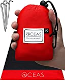 Oceas Outdoor Pocket Blanket - Ideal Sand Proof and Waterproof Picnic Blanket for Beach, Hiking, and...