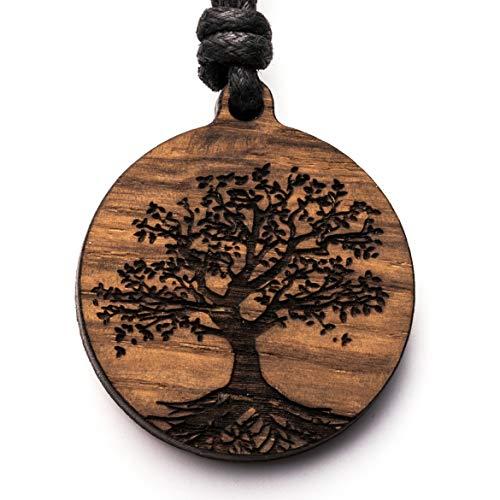 treeforce Baum des Lebens Halskette, Schlüsselanhänger oder Auto- Anhänger 3in1 DIY Schmuck aus Kupfereiche